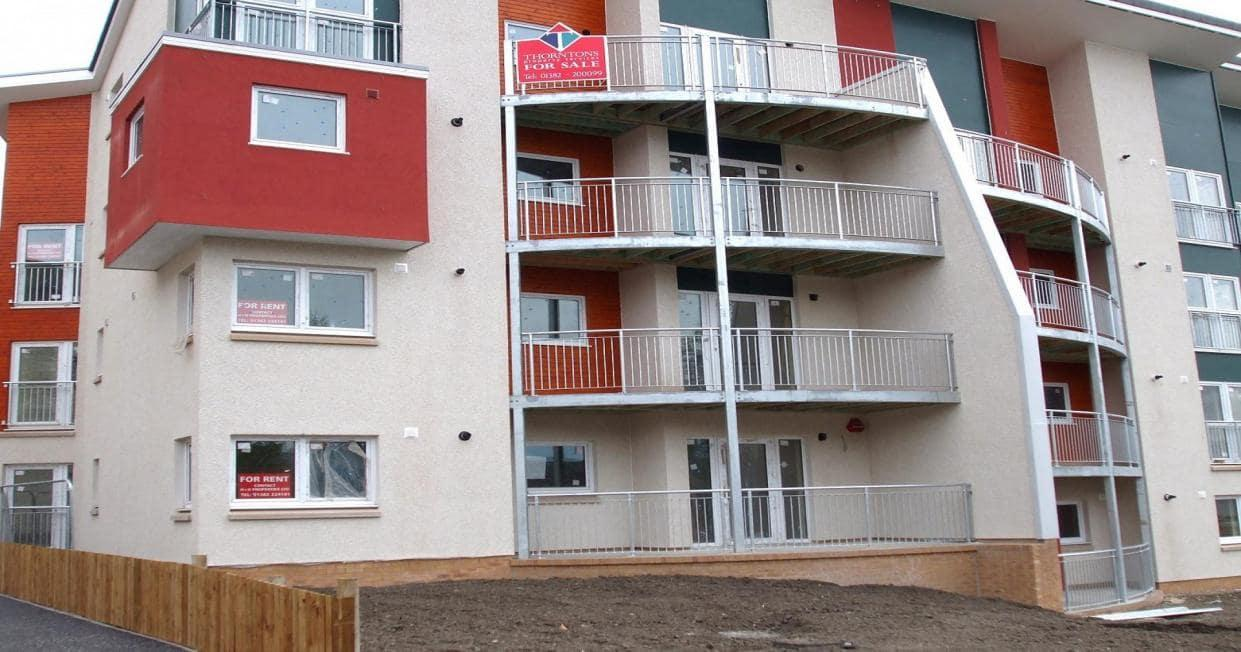 Outside image of balconies